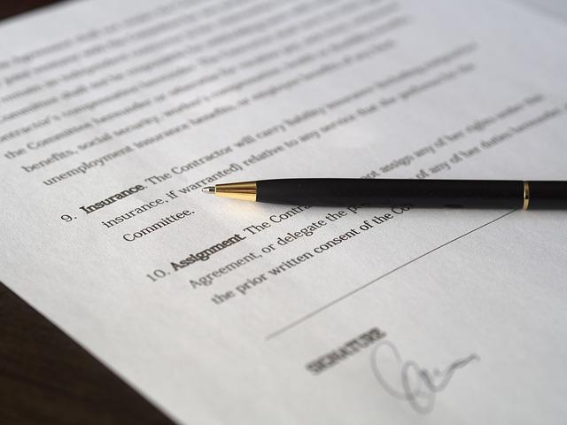 podepsaná obchodní smlouva