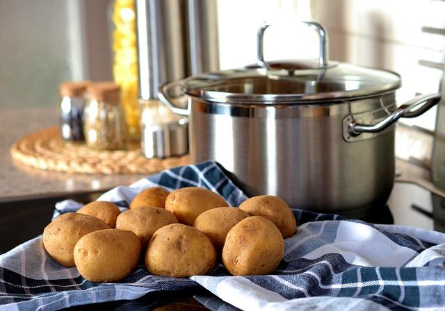 brambory na utěrce