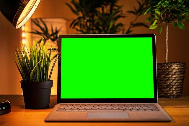 zelený monitor