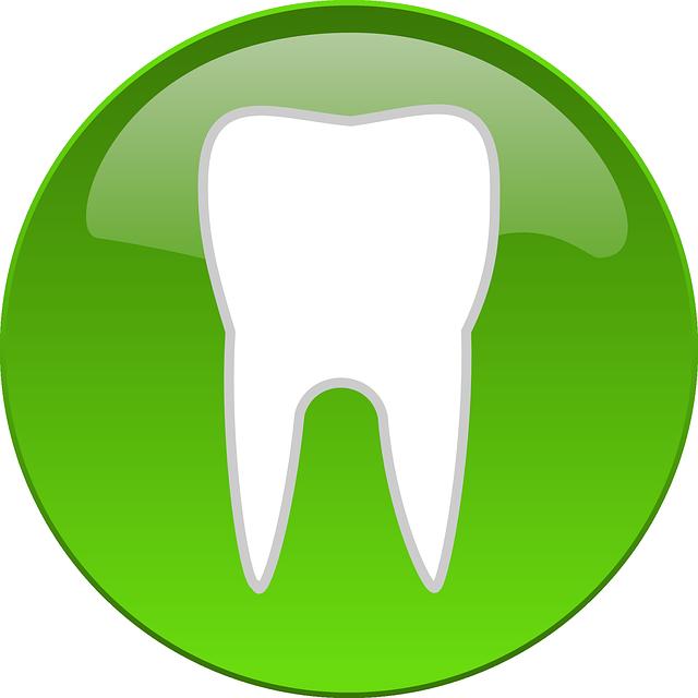 Zelené logo s motivem zubu