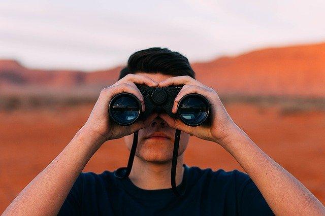 hledání neznámého dalekohled